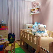 现代简约儿童房实木床