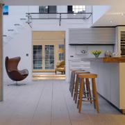 北欧风格复式楼吧台装修设计效果图
