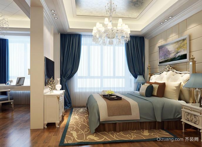 120平米复式楼欧式简约风格卧室装修效果图