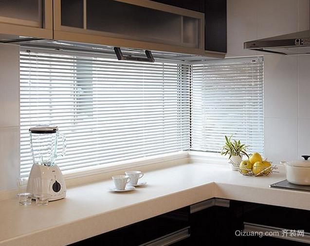 两室一厅后现代风格厨房百叶窗帘装修效果图