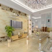 时尚大气:精致欧式小公寓客厅装修效果图鉴赏