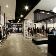 80平米后现代简约风格服装店吊顶装修效果图