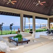 东南亚风格海景别墅吊顶装饰