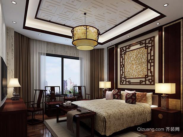120平米中式风格复式楼卧室装修效果图