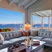 美式简约斜顶海景房装饰