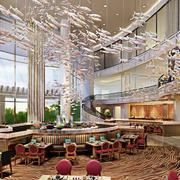 大型个性现代酒楼装修设计效果图