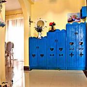 地中海风格小公寓玄关鞋柜装修图片