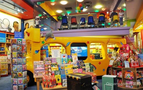 小区门口环境较好的儿童书店装修效果图