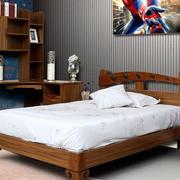 美式简约小男孩儿童床装饰