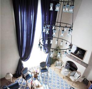 251平复式楼地中海风格个性吊灯装修图片