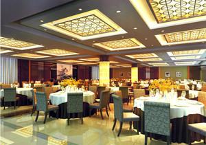 大户型新中式酒楼装修设计效果图