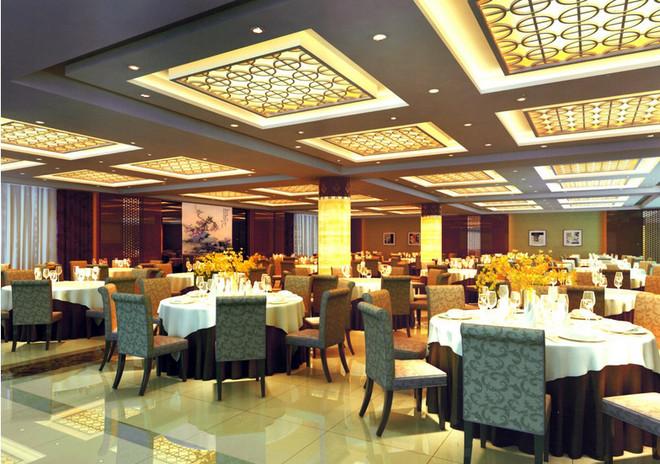 大户型新中式酒楼装修设计效果图装修效果图