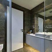 复式楼后现代风格卫生间玻璃门装修效果图