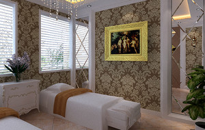 欧式美容院spa床装饰