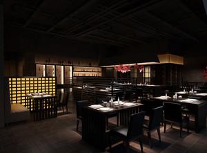 日式风情小型酒楼内部装修设计效果图