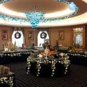 180平米大型后现代风格奢华圣诞主题餐厅设计