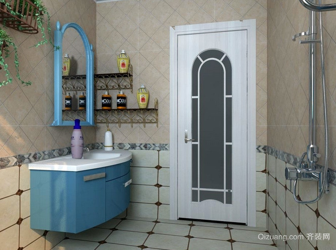 90平米小户型地中海风格卫生间门装修效果图