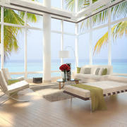 现代简约风格别墅玻璃窗装饰