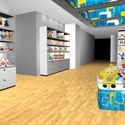 大型商场后现代风格玩具店装修效果图