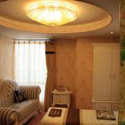 美容院包间圆形吊顶装饰