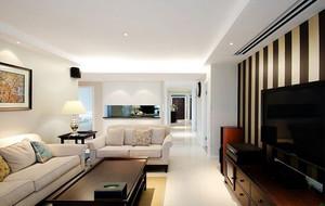 现代客厅白色吊顶