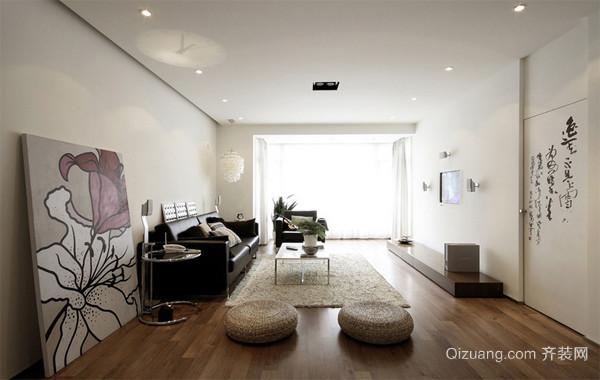 现代简约86平米一居室装修设计样板间