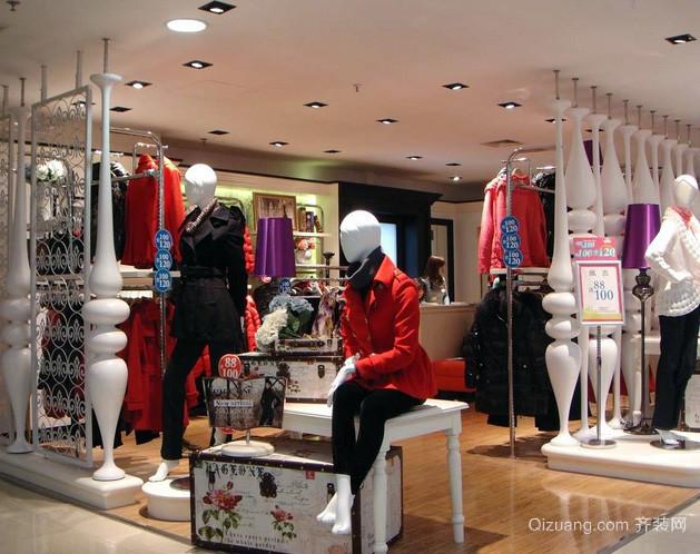 80平米欧式简约风格女性服装店装修效果图