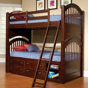 美式深色系儿童床设计