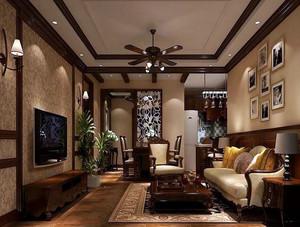138平米美式简约风格农村一层房屋设计图