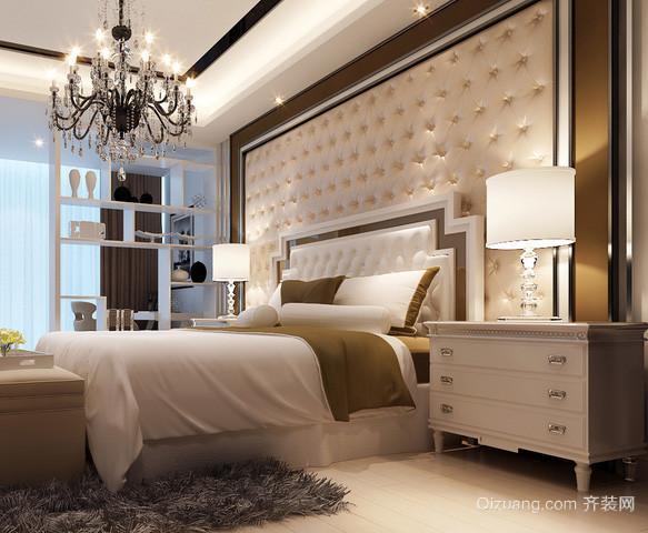 两室一厅欧式简约风格卧室软包装背景墙装饰