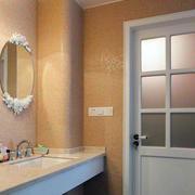 80平米现代田园风格卫生间门装修效果图