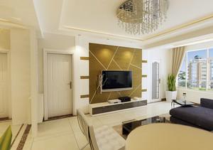 120平米自然风格硅藻泥电视背景墙图片