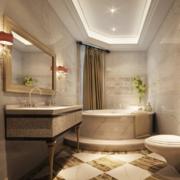 时尚精致的小户型卫生间装修效果图欣赏案例