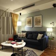 90平米老房改造都市风格客厅装修效果图