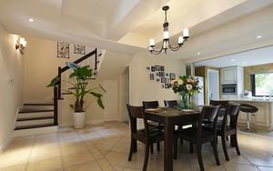 地中海风格200平米别墅餐厅装修图片