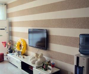 别墅时尚风格硅藻泥电视背景墙图片