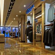 70平米长窄型男士西装服饰店装修效果图