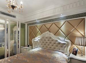 单身公寓欧式奢华大气软包装卧室背景墙设计