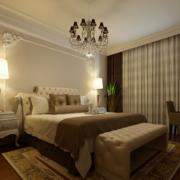 雅俗共赏的欧式大户型卧室背景墙装修效果图