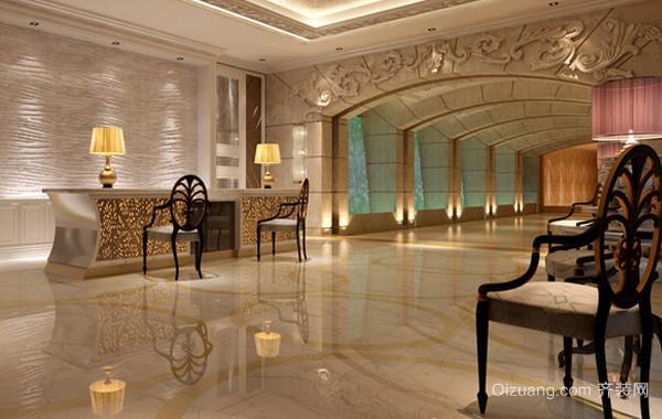 200平米国际欧式奢华酒店大堂装修效果图图片