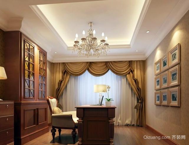 大型豪宅欧式简约风格书房装修效果图