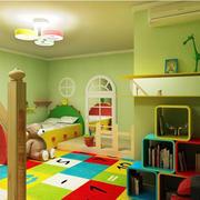 彩色童真复式楼儿童房装饰设计图片