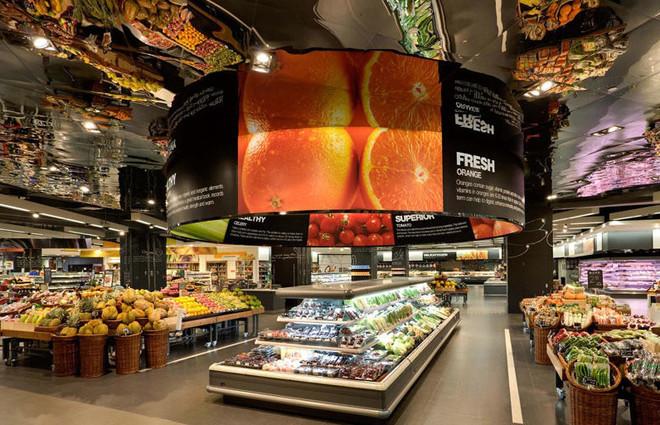 都市大型水果店装修效果图装修效果图