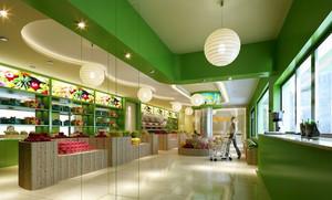 绿色清新120平米水果店装修效果图