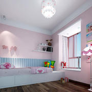 粉色简约小型儿童房装饰设计图片