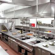 开放式酒店厨房柜台装饰