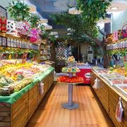 温馨40平米小型水果店装修效果图