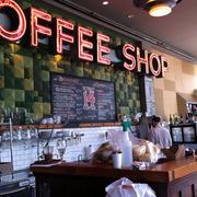 咖啡店简约柜台装饰