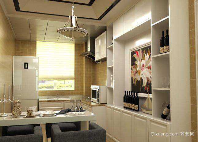 90平米现代简约风格酒柜装修效果图 齐装网装修效果图