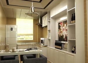 90平米现代简约风格酒柜装修效果图